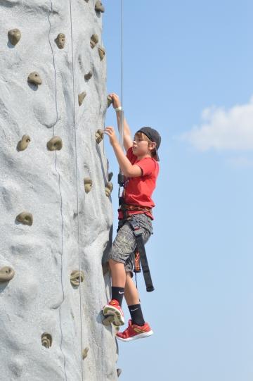 Rock Climbing at Family Fun Zone