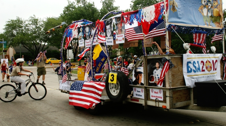 Boy Scouts Liberty By The Lake Parade Entry